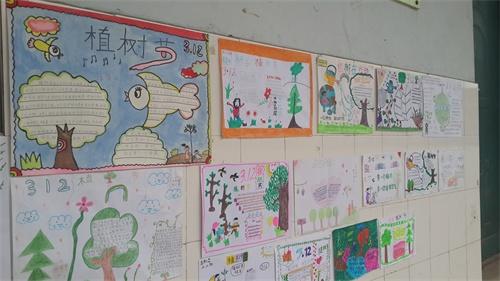 滏河学校植树节系列活动三 ——手抄报展览,评比活动